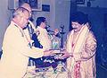 Rajib Gandhi Sadbhawna Award 2005- Arabinda Muduli - Janaki Ballabh Pattanaik 03.jpg