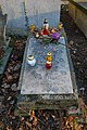 Rakowicki Cemetery, grave of Andrzej Bursa (Polish poet), 26 Rakowicka street, Kraków, Poland.jpg