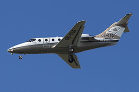L'Hawker 400XP marche OE-GSG dell'austriaca Jetalliance