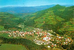 1968 postcard of Mežice