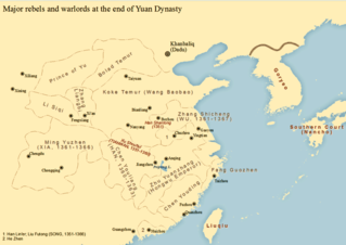 Red Turban Rebellion 1351–1368 uprising in the Yuan dynasty