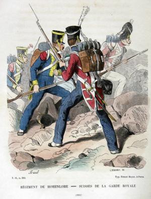 Hohenlohe Regiment - Image: Regiment de Hohenlohe 1826
