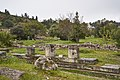 Remains of the Middle Stoa at the Ancient Agora of Athens on March 23, 2021.jpg