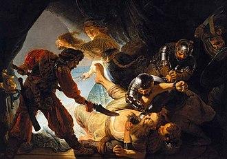 Cultural references to Samson - Image: Rembrandt Samson and Delilah. Oil on canvas, 206 x 276 cm 1636