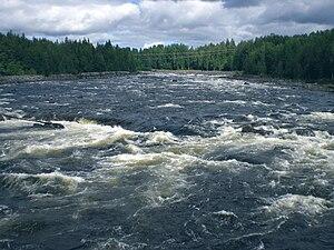 Vindel River - Renforsen rapid in the Vindel River
