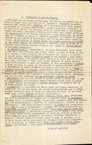 Reggio revolt - Typed proclamation of the Sbarre Central Republic