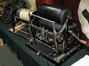 Belgian Resistance - Examples of mimeograph machines used by the Belgian resistance to produce illegal newspapers and publications