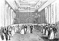 Retour après la bénédiction nuptiale lors du mariage de la princesse Charlotte de Belgique avec l'archiduc Maximilien d'Autriche le 27 juillet 1857.jpg