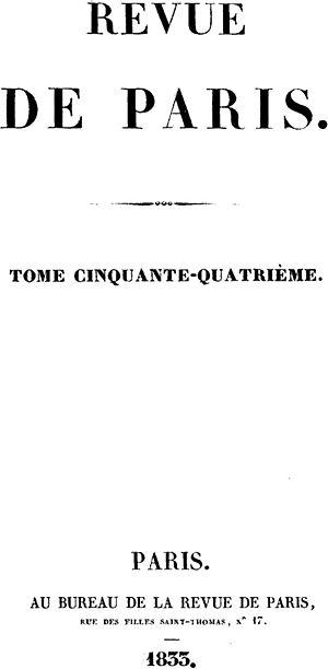 Revue de Paris - Image: Revue De Paris