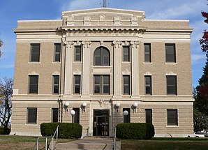 Richardson County Courthouse, gelistet im NRHP Nr. 90000965[1]