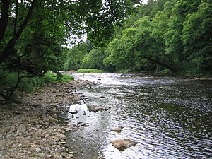 River Hodder - Looking towards the former Yorkshire bank, near Paradise hill