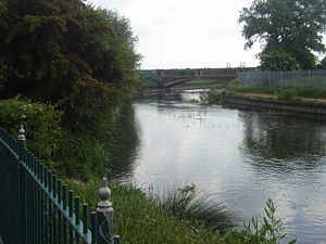 River Lea -  The river viewed from Enfield Island Village