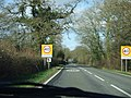 Road into Longburton showing village name sign and speed limit - geograph.org.uk - 316836.jpg