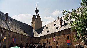 Rochsburg Castle - Outer ward