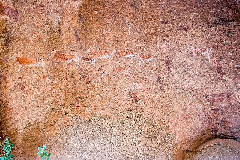 Fájl:Rock Paintings, White Lady with Arrow (3690486840).jpg