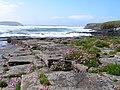 Rock shelf by Mid Howe - geograph.org.uk - 614158.jpg
