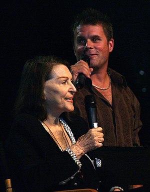 Majel Barrett - Barrett and son Rod in 2008