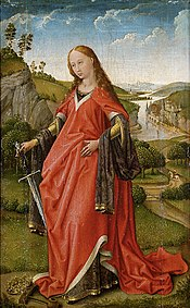 Right wing of a diptych: St. Katharina
