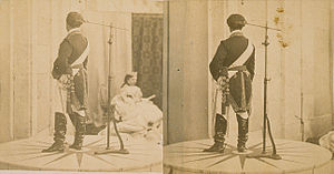 François Willème - Two photographs for a photosculpture, probably of the King of Spain