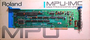 Micro Channel architecture - Roland MPU-IMC; second revision with IRQ jumpers