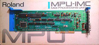 MPU-401 - Roland MPU-IPC, the rare 'Micro Channel' version of the card.