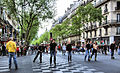 Roller Skate Race In The Boulevard Saint-Germain, Paris April 2014.jpg