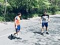Roman Amiyan and Malkhas Amiyan in The Open air gym of Hrazdan gorge (2).jpg