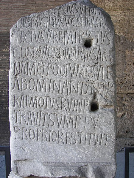 Dosye:Rome Colosseum inscription 2.jpg