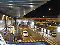 Rome Fiumicino international airport - Main entrance with streets.jpg