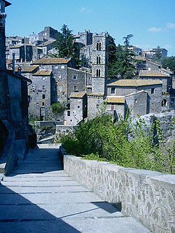 A view of the medieval burg of Ronciglione.