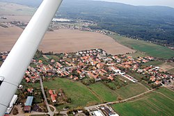 Rosovice from air