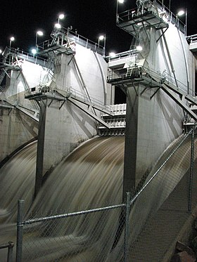 Ross River Dam at night.jpg