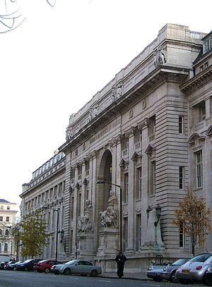 Royal School of Mines - Royal School of Mines entrance and the Goldsmiths' wing, Prince Consort Road, London.