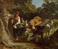 Rudolf Koller Änni am Brunnen mit Kühen.jpg