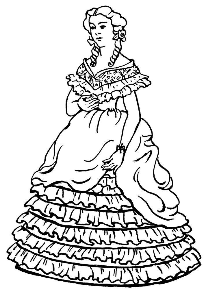 Free Girl Dress Clothing Coloring Pages