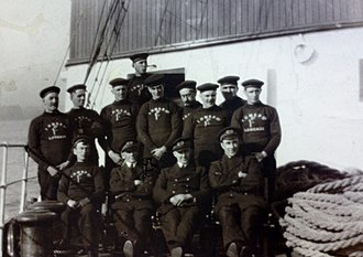 SS Rushen Castle - Officers and Deck Crew of SS Rushen Castle, 1928.