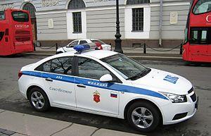 Saint Petersburg Police - Saint Petersburg Police car, April 2011
