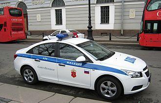 Saint Petersburg Police - Saint Petersburg Police Chevrolet Cruze, April 2011