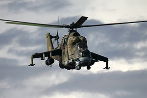 In Amenas hostage crisis - Russian-built Mi-24 gunship of the type used for the rescue attempt.