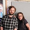 Ryan McGrady and Barbara Page at WikiWed 2017-08 jeh.jpg