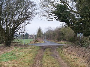 Icknield Street - Condicote Lane, north of Bourton-on-the-Water.