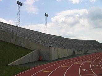 "Rynearson Stadium - The ""away"" (east) side of the stadium"