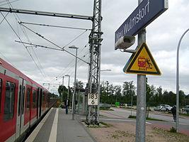 Nördlicher Bahnsteig