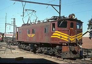 South African Class 1E - Class 1ES no. E145 at Salt River, January 1975