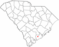 Location of Hollywood in South Carolina