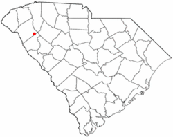 Location of Honea Path, South Carolina