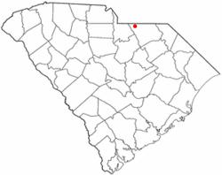 Location of Pageland, South Carolina