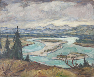Selma Des Coudres - View of the Isar River (Private collection, used by permission)