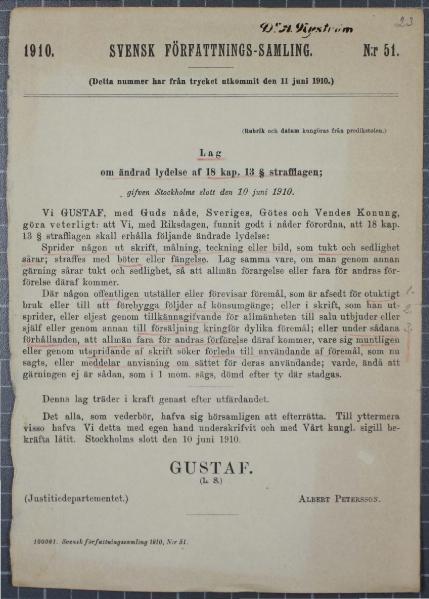 File:SFS 1910 51 Lag om ändrad lydelse af 18 kap 13 § strafflagen.djvu