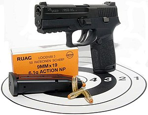 SIG Sauer P250 - The cancelled SIG Sauer PPNL variant developed for the Dutch Police with RUAG Action 4 NP ammunition